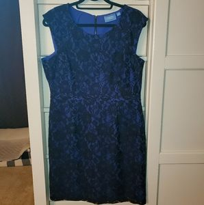 Vera Wang black lace/dark purple dress